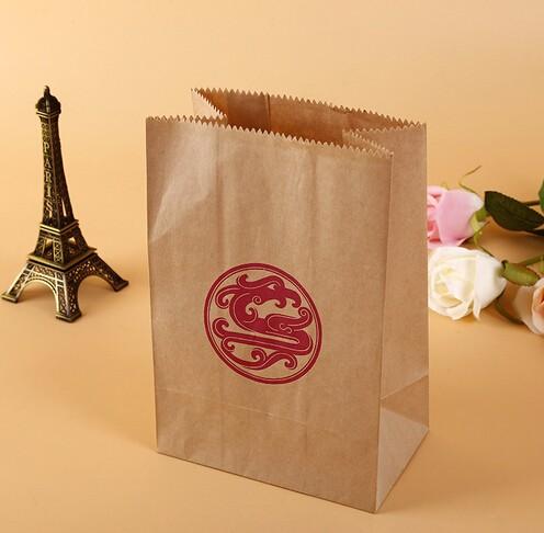 龙形印章传统风格牛皮食品袋定制