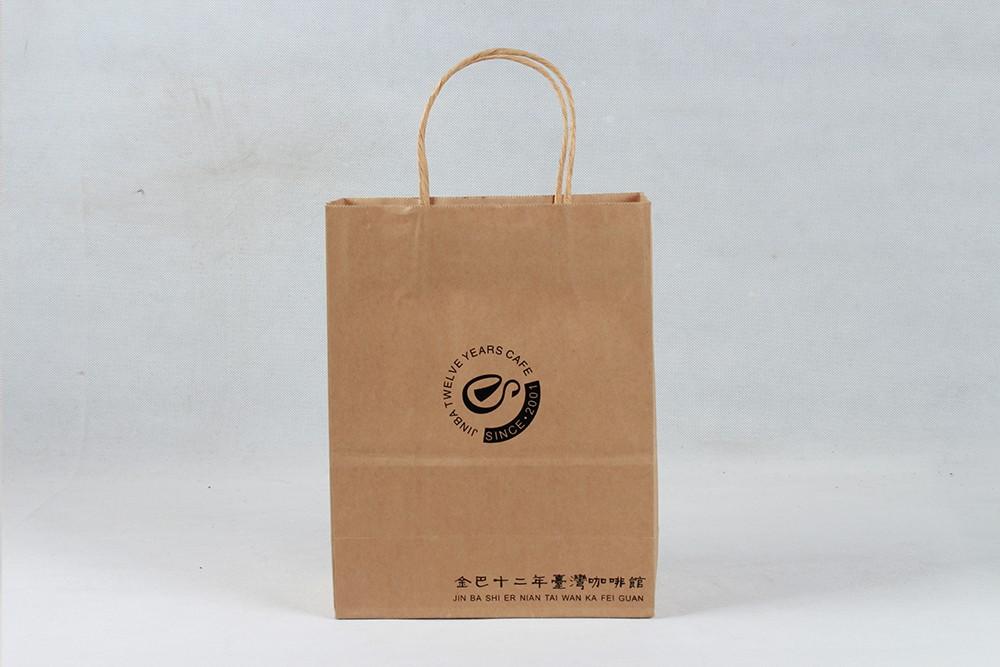 简约型牛皮纸袋  金巴十二年咖啡馆