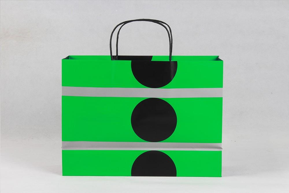 高档绿色铜版纸袋