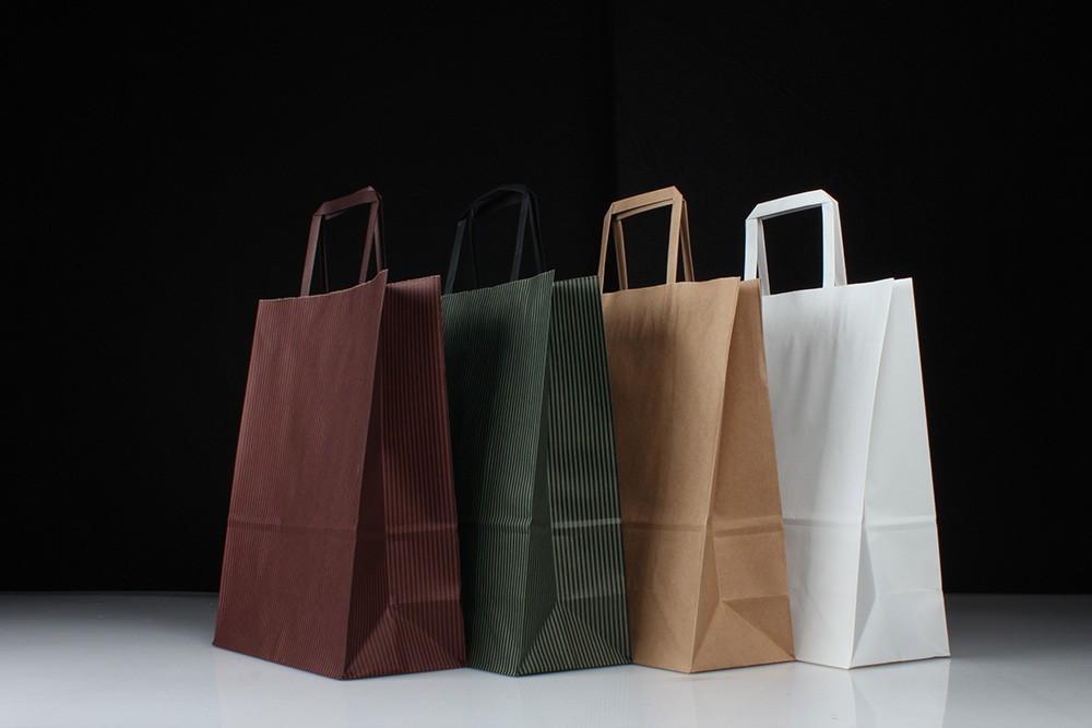 时尚扁提手商务型牛皮纸袋