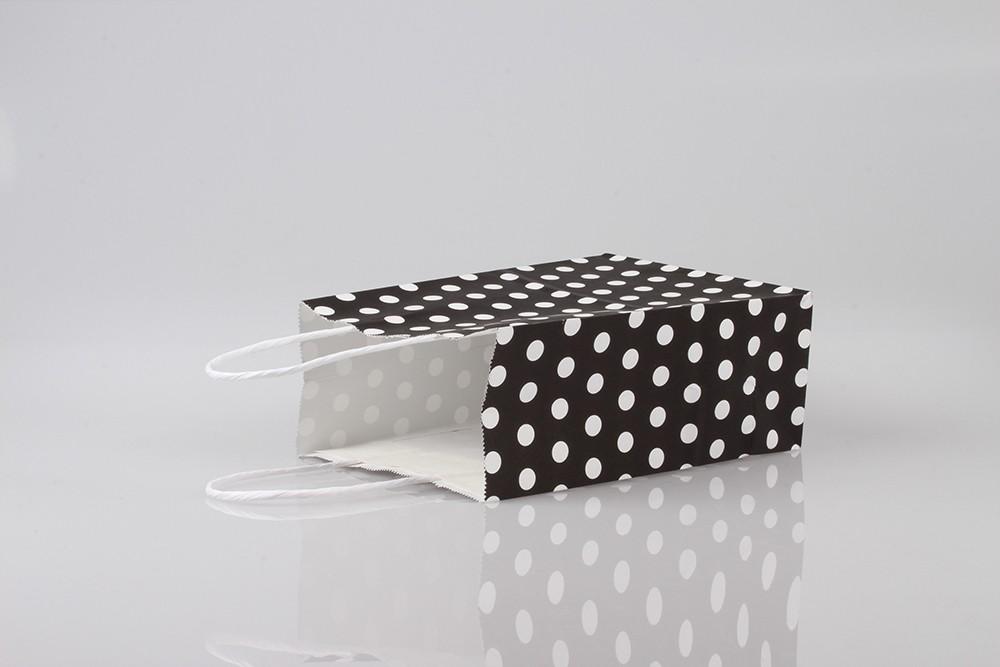 圆点清新礼品白牛皮纸袋