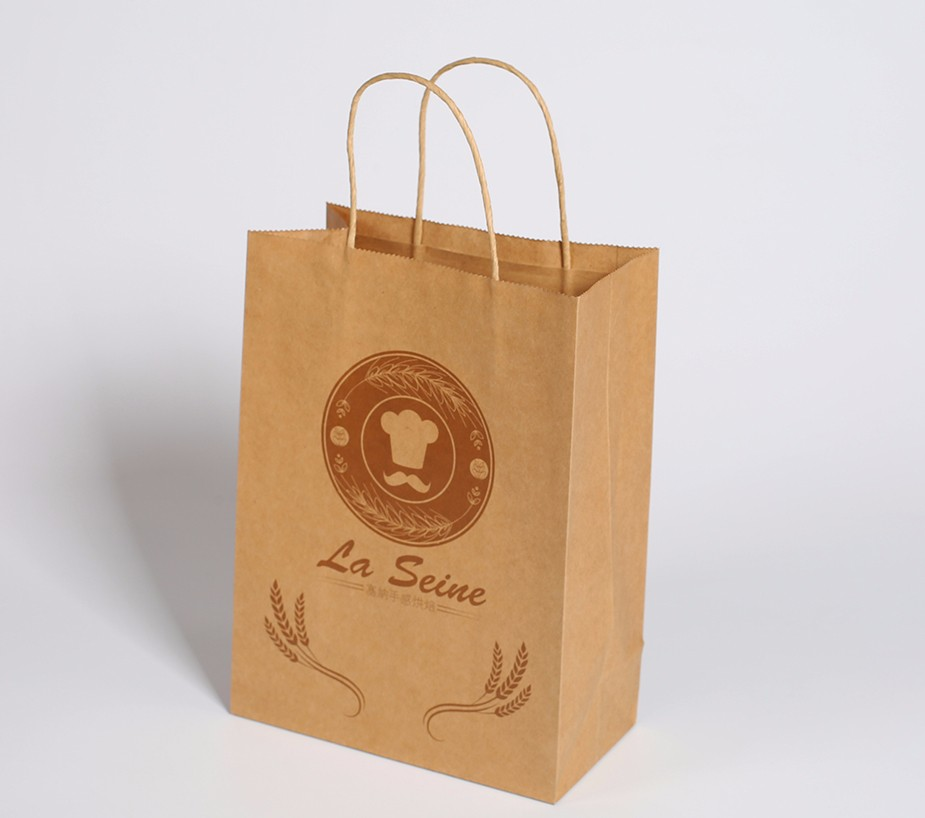 牛皮纸打包袋定制样例-La Seine